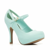 Cut-Out Mary Jane Heels