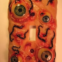 Worm and Leech Infected Gross Blistery Eyeball Switchplate