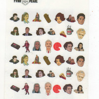 TWIN PEAKS Characters waterslide nail decals - free shipping U S A -  YVNGPEARL