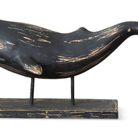 """16"""" Whale on Stand, Black, Busts, Statues & Statuettes"""
