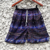 20Inch Length Unisex Simi Shorts For Summer Peacock Art Print Boho Beach Hippies Hipster Clothing Aztec Bohemian Ikat Comfy Chic purple