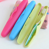 Portable Traveling Toothbrush Storage Protective Box 4 Candy Colors Storage Protective Box = 1958158596