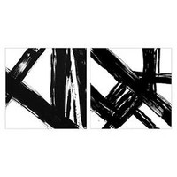 "Abstract Black and White 22""x22"" 2-Pack Embellished Canvas - Threshold™"