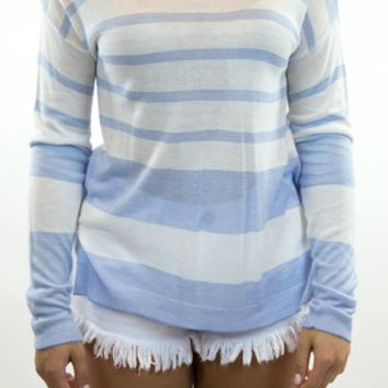 Skies Are Blue | Blue Skies Striped Sweater