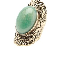 Glitter Stone Baroque Cocktail Ring