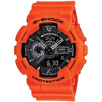 Casio Classic Mens Analog Digital G-Shock - Orange & Black - Magnetic Resistant