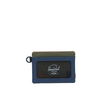 Herschel Supply Co. - Charlie ID Navy Red Woodland Camo Wallet