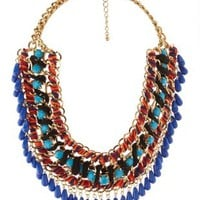 Multi Mixed Media Statement Bib Necklace by Charlotte Russe