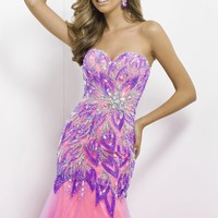 Embellished Mermaid Gown by Blush by Alexia