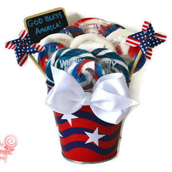 Patriotic Lollipop Arrangement