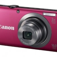 Canon PowerShot A2300 16.0 MP Digital Camera with 5x Digital Image Stabilized Zoom 28mm Wide-Angle Lens with 720p HD Video Recording (Red)