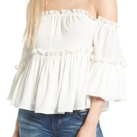 J.O.A. Ruffle Off the Shoulder Top | Nordstrom