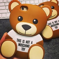 Cute Bear Silicone Case for iPhone 5s 6 6s Case iPhone 6 6s Plus Gift-78