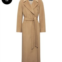 Camelhair Longline Belted Coat   Womens Clothing   Jaeger