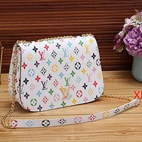 Best Gifts Louis Vuitton LV Women Fashion Leather Chain Crossbody Shoulder Bag Satchel