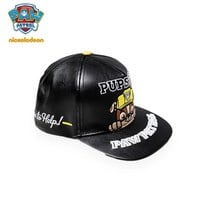 Genuine PAW Patrol Adjustable 53.5cm high quality PU leather spring autumn hat kids fashion children's toy for age 2-10 years