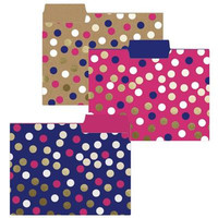 Navy Dot File Folders
