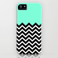 Tiffany iPhone Black White Chevron iPhone Case by RexLambo | Society6
