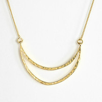 Urban Outfitters - Gold Crescent Pendant Necklace