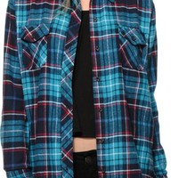 Empyre Teal Flannel Shirt