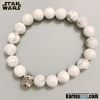 STAR WARS: StormTrooper | White Turquoise | Superhero ComicCon CosPlay Bracelet