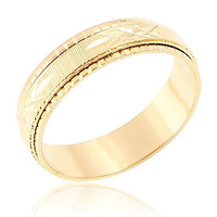 Mens Lmitation Gold Cross The Line Texture Rings(Random Delivery)