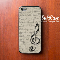 IPHONE 5S CASE Vintage Style Music G Clef iPhone Case iPhone 5 Case iPhone 4 Case Samsung Galaxy S4 S3 Cover iPhone 5c cases iPhone 4s case