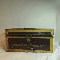 Metal box 1914 law firm metal  Wilson  Tedrow  Antique law firm Colorado and law Franklin and Tedrow District attorney1914