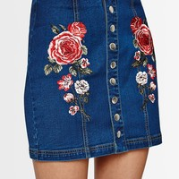 PacSun Snap Embroidered Panel Skirt at PacSun.com