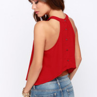 Spike the Punch Red Crop Top