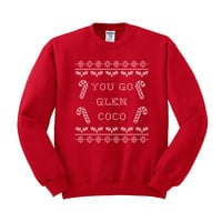 Glen Coco (White Ink) Crewneck Sweatshirt