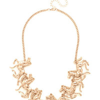 ModCloth Darling Friend or Foal Necklace