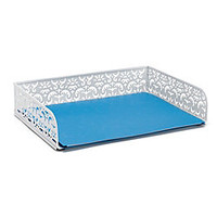 Realspace Brocade Document Tray White by Office Depot