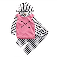 Abacaxi Kids 2PCS Girls Hooded Arrow Set