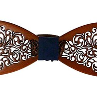 Wooden Bowtie Vintage Style Apparel Novelty Accessory