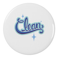 """Clean Text 2.25"""" Round Pin Button"""