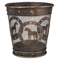 Gift Corral Small Waste Basket - Mini Horse - Black/bronze - Mini Horse