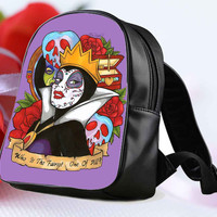 "Evil Queen Snow White Disney Day Of The Dead for Backpack / Custom Bag / School Bag / Children Bag / Custom School Bag ""NP"""