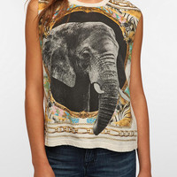 Urban Outfitters - Truly Madly Deeply Elephant Scarf Muscle Tee