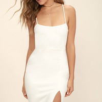 Don't Let Me Down White Bodycon Dress