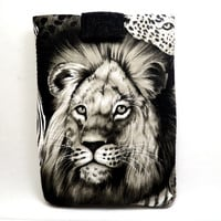 Lion's Eye Tablet Cover /Animal Lover iPad Sleeve/ Kindle Fire Sleeve/ Galaxy Cover/ Google Nexus Case/ Football iPad Case/