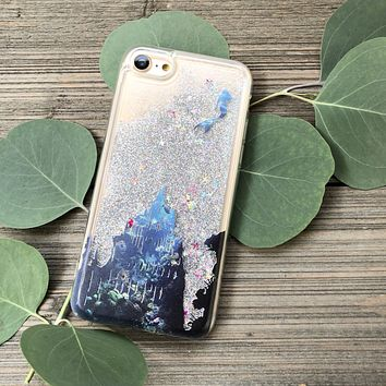 Atlantis Mermaid Silver Glitter iPhone Case