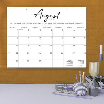 July 2021-June 2022 Inspirational Script Large Desk Pad Monthly Blotter Calendar