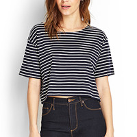 FOREVER 21 Striped Boxy Tee