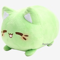 Licensed cool Meowchi Green Tea Plush Mochi Kitten Cat Hot Topic Exclusive Expression Licensed