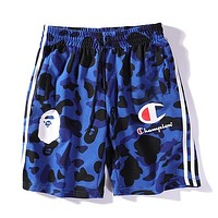 Champion x BAPE Woman Men Fashion Camouflage Beach Shorts
