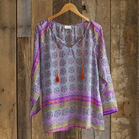 Cute  Tunics:  Large  Blue  Tassel  Tunic  From  Natural  Life