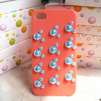 Blue Mickey Mouse Disney With Orange Iphone 4S Case.iphone 4 cover case.iphone 4s cover case. rhinestone DIY iphone 4 case.