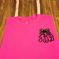 Monogrammed Put a Bow On It T-shirt