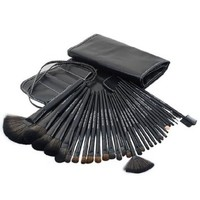 32 PCS Cosmetic Makeup Brushes Set with 1 Black Pouch and 32 Brushes